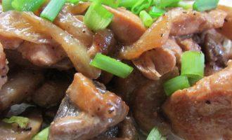 Пошаговый рецепт курицы с грибами