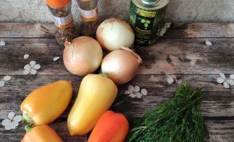 Салат из лука и болгарского перца фото