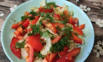Рецепт салата из лука и болгарского перца с фото пошагово