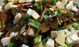 Рецепты салата из морской капусты с фото