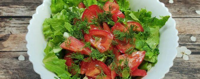 Салат из огурцов помидоров и перца