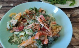 Салат из помидоров, перца, огурцов и лука пошагово с фото