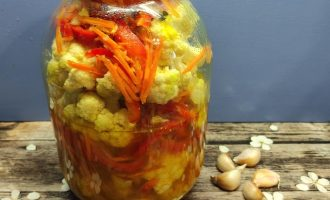Пошаговый рецепт цветной капусты по-корейски