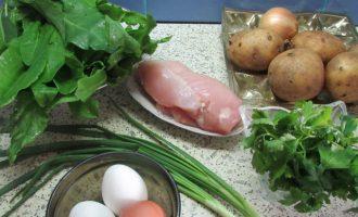 Как приготовить зеленый борщ с щавелем и яйцом пошагово